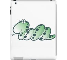 Green Snake cartoon iPad Case/Skin