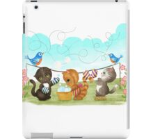 Three Kittens Washing Mittens iPad Case/Skin