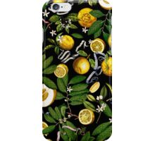 Lemon Tree - Black iPhone Case/Skin