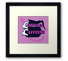 Pink Captain Caffeine Coffee Humor Framed Print