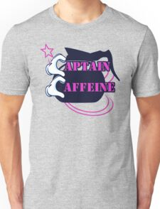 Pink Captain Caffeine Coffee Humor Unisex T-Shirt
