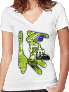 aliens 2 Women's Fitted V-Neck T-Shirt