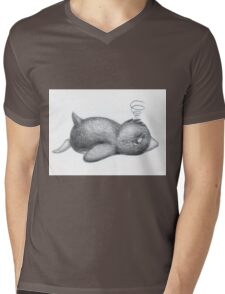 Rough Day Mens V-Neck T-Shirt