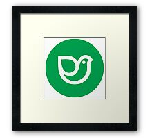Green design bird icon Framed Print
