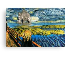 The Scream on the Starry Night Canvas Print