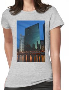 Evening at 333 Wacker Building Womens Fitted T-Shirt