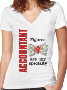 Accountant Humor Women's Fitted V-Neck T-Shirt
