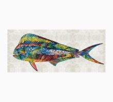 Colorful Dolphin Fish by Sharon Cummings Baby Tee