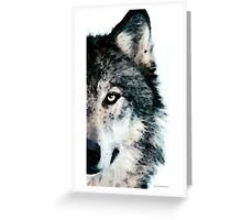 Wolf Art - Timber Greeting Card