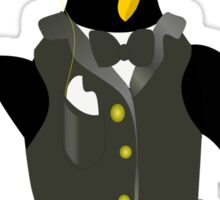 Penguin wearing tux clip art Sticker