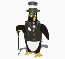 Penguin wearing tux clip art One Piece - Short Sleeve