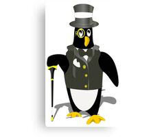 Penguin wearing tux clip art Canvas Print