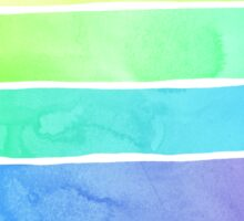 Summer Sorbet Rainbow Stripes Sticker