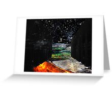 There is a Place Where Dreams and Nighmares Intersect Greeting Card