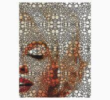 Marilyn Monroe - Sigh - Stone Rock'd Art By Sharon Cummings One Piece - Short Sleeve