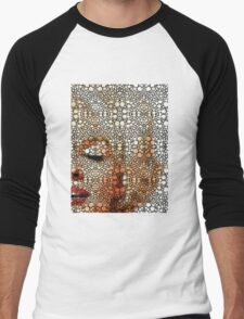Marilyn Monroe - Sigh - Stone Rock'd Art By Sharon Cummings Men's Baseball ¾ T-Shirt