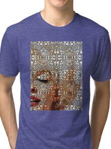 Marilyn Monroe - Sigh - Stone Rock'd Art By Sharon Cummings Tri-blend T-Shirt