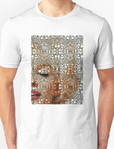 Marilyn Monroe - Sigh - Stone Rock'd Art By Sharon Cummings Unisex T-Shirt