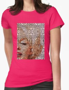Marilyn Monroe - Sigh - Stone Rock'd Art By Sharon Cummings Womens Fitted T-Shirt