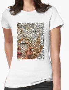 Marilyn Monroe - Sigh - Stone Rock'd Art By Sharon Cummings Womens Fitted T-Shirt