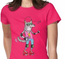 MAXIMUM COOL WOLF: JUST WOLF Womens Fitted T-Shirt