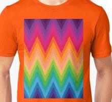 Retro Zig Zag Chevron Pattern Unisex T-Shirt