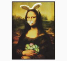 Mona Lisa Easter Bunny with Whiskers One Piece - Short Sleeve