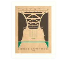 George D. Stuart Bridge - 1952 (Green) Art Print