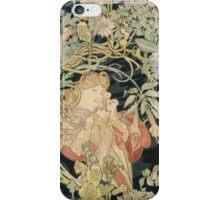 Alphonse Mucha - Woman In La Marguerite 1899 iPhone Case/Skin