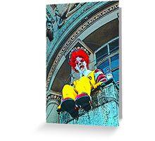 Suicidal clown! Greeting Card