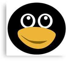 Funny tux face Canvas Print