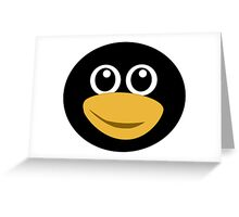 Funny tux face Greeting Card