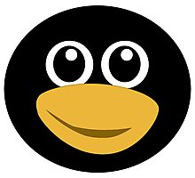 Funny tux face Photographic Print