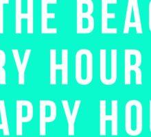 Beach = Happy Hour Sticker