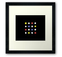 Face and Shape Design | Many Faces Series Framed Print