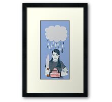 Someone Left Their Cake out in the Rain Framed Print