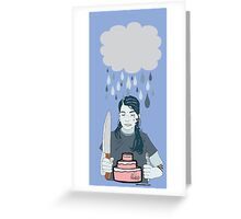 Someone Left Their Cake out in the Rain Greeting Card