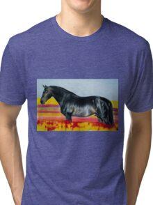"""""""In an Ocean of Color"""" - Color Pencil portrait Tri-blend T-Shirt"""