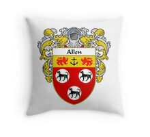 Allen Coat of Arms/Family Crest Throw Pillow