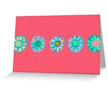 flowers in a string Greeting Card