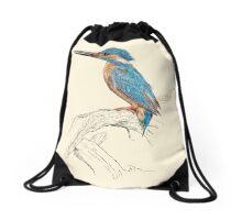 Kingfisher Drawstring Bag