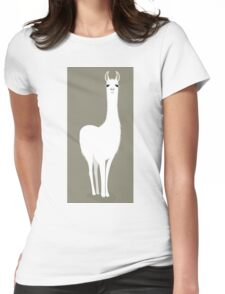 STANDING LLAMA #8 Womens Fitted T-Shirt
