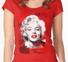 Marilyn's Blooming Beauty  Women's Fitted Scoop T-Shirt