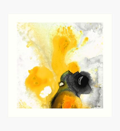 Yellow Orange Abstract Art - The Dreamer - By Sharon Cummings Art Print