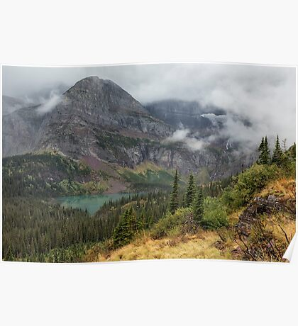 Grinnell Lake from the Trail No. 1 - Glacier NP Poster