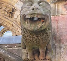Rosslyn Chapel, Roslin, Scotland (gargoyle close up) by MagsWilliamson