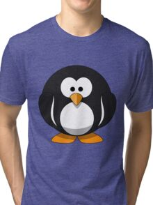 Cute round cartoon penguin Tri-blend T-Shirt