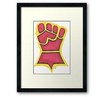 Crimson Fist Framed Print