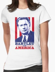Bartlet for America 1 Womens Fitted T-Shirt