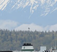 Ferry Walla Walla and Olympic Mountains Sticker